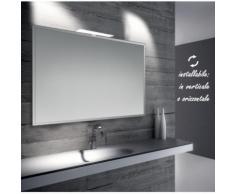 Diana - specchio reversibile da bagno con cornice bisellata 100x70 cm con lampada led 7w - BATHMAN