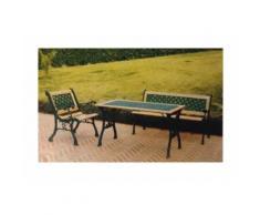 Panchina da giardino in ghisa - doghe in legno LOSANGHE 120x62xh78 cm - I GIARDINI DEL RE'