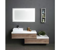 Specchio bagno con mobiletto good enki mobile a specchio per