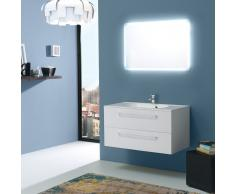 Mobile Bagno 90 Cm Boston Bianco Con Specchio Retroilluminato