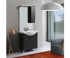 Mobile Bagno Con Piedini Lavabo E Specchio Da 75 Cm Perla
