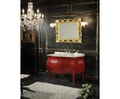 Mobile Bagno Barocco Modello Lipari Rosso