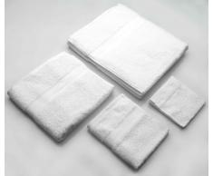 Kit Asciugamani Colore Bianco Per Arredamento Bagno
