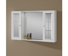 Specchio Bagno Contenitore Con Due Pensili E Luce Modello Tiziana