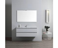 Mobile Bagno Con Lavabo Integrato 120 Cm Con Specchio Serie Berlin