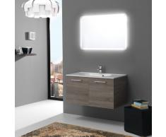 Mobile Bagno 90 Cm Con Ante Design Moderno In Tartufo Boston