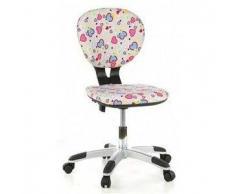 Sedia ergonomica per bambini BILLY, a partire dagli 8 anni, motivo cuori rosa