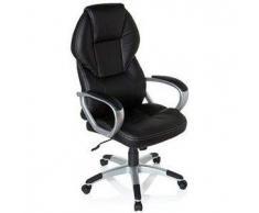 Poltrona da ufficio TREVISO, design di qualità a un ottimo prezzo, imbottitura extra comfort, in pelle color nero