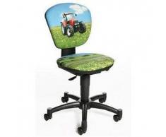 Sedia ergonomica per bambini MAX KID, sedile e schienale regolabile, marchio Topstar, motivo trattore
