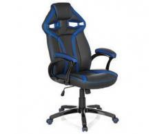 Poltrona per ufficio WIND, design esclusivo, stile sportivo, comoda, colore nero/blu