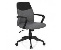 Sedia da ufficio COLONIAL, elegante design con schienale bicolore, in tessuto color grigio
