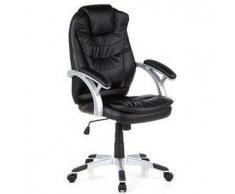 Poltrona ufficio MARCO 300, comodissima e dal design esclusivo, con braccioli, in colore nero