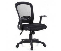 Sedia per ufficio FLIER, design esclusivo ad un prezzo conveniente, con schienale in rete e sedile imbottito, in nero