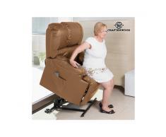 Poltrona Relax Alzapersone con Massaggio Craftenwood Camel 6010
