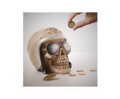 Salvadanaio Motorbiker Skull