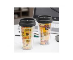 Bicchiere con Coperchio e Doppio Strato Coffee