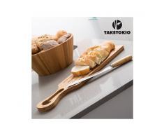 Tagliere e Coltello da Pane Bambù TakeTokio