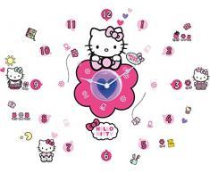 Hello Kitty Tick Tock - Orologio da parete e adesivi