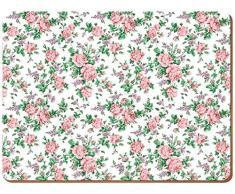creative tops Everyday Home Ditsy tovagliette con retro in sughero, legno, rosa, pezzi