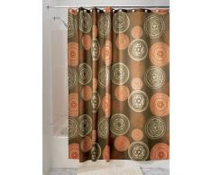 iDesign Bazaar Tenda Doccia, Tessuto, Marrone, 180x0.2x180 cm