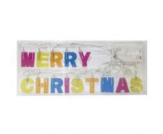 Idena LED Catena luminosa Merry Christmas, funzionamento a batteria 8582149