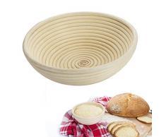 Westmark 32062270 - Cesto per pasta di pane, Vimini, Rotondo, per ca. 1500-2000 g, diametro: 25 cm