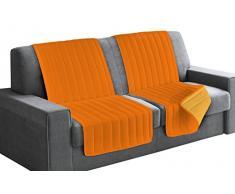 Italian Bed Linen Seduta Fascia Copridivano, Microfibra, Arancio/Giallo, 190x60x6 cm