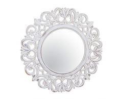 Dcasa - Specchi da Parete Rotondi Bianchi per mobili, Adesivi per la Decorazione della casa, Unisex, per Adulti, Colore Unico