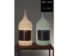 In-es.artdesign IN-ES060C40 Luce Liquida 3 Nebulite Lampada da Tavolo E14, Rosso