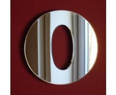 Numero 0 Specchio: 15 cm.