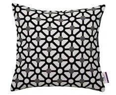 Tom Tailor 564191 fodera per cuscino T-combined, 40 x 40 cm, misto cotone, Nero