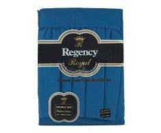 Regency Royal - Lenzuolo Valance, 2 pezzi, per letto matrimoniale, blu scuro, Doppio