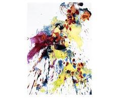 Andiamo 1100420 Splash Tappeto, motivo: macchie di colore, multicolore, multicolore, 67 x 140 cm