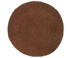 Just Contempo Tappetino da bagno rotondo in cotone, rotondo, colore: marrone