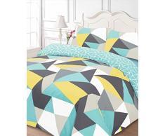 Dreamscene – Funky forme Set di biancheria da letto, doppio, multicolore