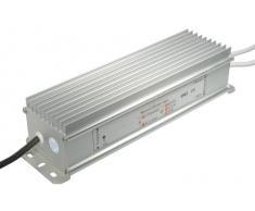 Transmedia LTE10L - Alimentatore per lampade a LED da 12 V/100 W, 8300 mA, classe di protezione IP67, cavi attacco max. 250 mm, 240 x 67 x 54 mm