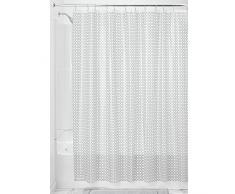 InterDesign Addie Tenda Doccia Decorativa, Vinile, Argento, 180x0.2x200 cm