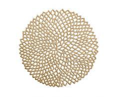 Zeller, Set di Tovagliette in PVC, PVC, gold, ca. Ø 38 cm