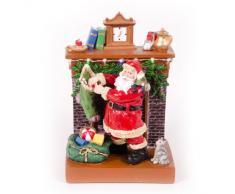 WeRChristmas - Babbo Natale al Camino, 17 cm, con Decorazioni