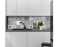 Ambiance-Live Piastrelle adesive per Parete,Tipo azulejos,20x 20cm, Imitazione Cemento, Confezione da 15