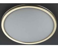 Hufnagel 561421 e, lampada da soffitto, ottone, 46 W, E27, bianco, 10 x 12 x 15 cm