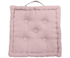 Cuscino da pavimento in cotone 50x50x10 cm PANAMA rosa
