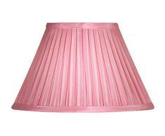 Oaks Lighting - Paralume in tessuto plissettato, stile funghetto, 25,4 cm Rosa pallido