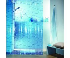Spirella Pool PEVA Tenda da Doccia in Plastica Traslucida, 180 x 200 cm, Blu