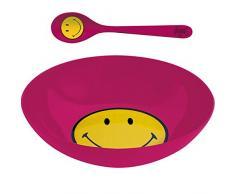 ZAK Designs 6187-2304 - Set da Colazione, Ciotola e Cucchiaio, Colore: Lampone