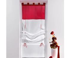 Douceur dIntérieur - Tenda a pacchetto con passanti, ceramica, rosso, 45 x 180 cm
