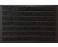 ID Opaco 609020 Combi Brush-Tappeto Zerbino Gomma/Fibra, in Polipropilene, 90 x 60 x 0,94 cm