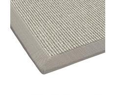 BODENMEISTER - Tappeto in sisal, Moderno e di Alta qualità , Tessuto Piatto, Grau Weiss Natur, 80x250