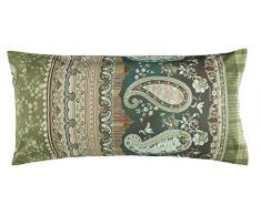 Bassetti ANACAPRI - Fodera per Cuscino, Cotone, Verde, 40 x 80 cm