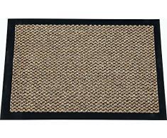 ID Opaco 8012010Â Cahors/Florac Tappeto Zerbino Fibra Polipropilene/PVC 120Â x 80Â x 0,67Â cm, Marrone, 80 x 120 cm